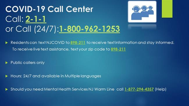COVID-19 Call Center Infographic