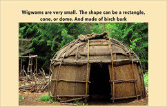 A Wigman, a Small Round Tent Made of Bark