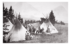 Historical Photo of a Teepee